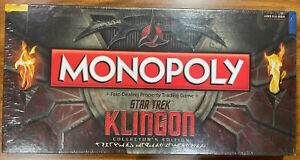 BRAND NEW! SEALED! Monopoly Star Trek Klingon Collectors Board Game USAopoly