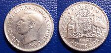 MONETA 1 UNO ONE FIORINO FLORIN 1951 ARGENTO SILVER AUSTRALIA