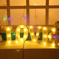 LED Marquee 26 Alphabet Letter/Number 0-9 Light Up Sign Wall Hanging Night Lamp