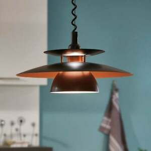 Eglo (31666) Brenda Rise and Fall Ceiling Pendant in Black and Copper