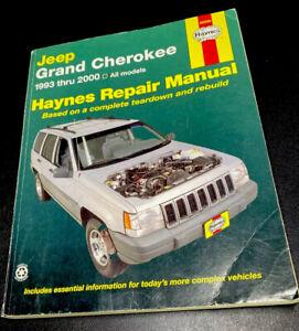 HAYNES Jeep Grand Cherokee 1993 thru 2000 Repair Manual 50025 Pre-Owned