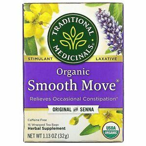 Traditional Medicinals Smooth Move Laxative Tea Original with Sen na Free P&P