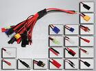 Multi-19 Mega Charge Plug Adapter Set Xt60 Ec3 Ec5 Deans JST Tamiya Traxxas