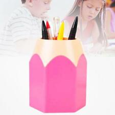 Mini Pencil Pot Holder Pen Storage Stationery Gift Cup Makeup Brush Box Pink MT