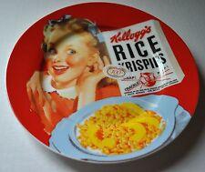 "NEW VINTAGE KELLOGG'S Breakfast PLATE 8"" RICE KRISPIES Girl 100th Anniversary"