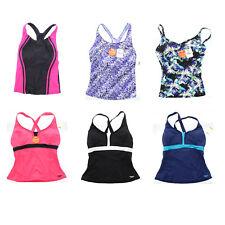 Speedo Women's Tankini Active Racerback Sport Swimsuit Swimwear Swim Top