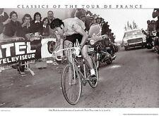 TOUR DE FRANCE EDDY MERCKX TINTED PHOTOGRAPH POSTER PRESSE 'E SPORTS cycles art