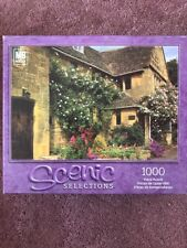 2002 MB Scenic Selections Puzzle 1000 Piece Hasbro England Cottage 12+ New