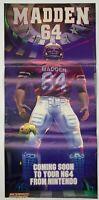 Poster - Madden 64 - N64 - OFFICIAL NINTENDO POWER - Nintendo 64