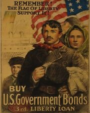 US Government War Bonds Liberty Loans Poster World War I WWI 8x10 Photo