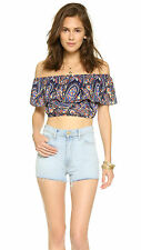 Bandeau Cropped Sleeveless Blouses for Women