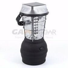 Hand Crank Dynamo Solar 36 LED Super Bright Lantern Outdoor Camping Work Light