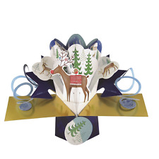 Rudolph Petite Christmas Pop-Up Greeting Card Second Nature 3D Pop Up Cards