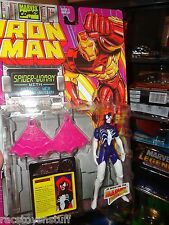 SPIDER-WOMAN FROM THE IRON MAN SERIES ... MINT ON CARD. FREE U.S. SHIPPING