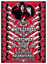Original Mint '03 The White Stripes Detroit 2 Concert Poster Set Loren Grimshaw
