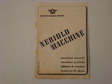 advertising Pubblicità 1943 NEBIOLO MACCHINE