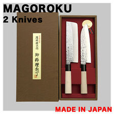 Japanese 2 Knives MAGOROKU Houchou SUSHI Made in JAPAN SANTOKU NAKIRI Knife