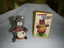 1960's Drummer Bear Wind-Up Tin Litho Toy Alps Japan