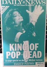 "June 26, 2009 Daily News Michael Jackson ""King of Pop Dead"" Print Plate ""RARE"""