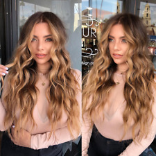 9A Brazlian Human Hair wigs Balayage Highights Medium Blonde Full Lace Front wig