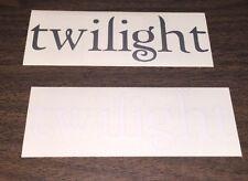 "Twilight Stickers 6""x2"" (1) Silver (1) White"