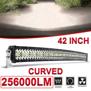"12D 2560W 42inch Curved LED Light Bar Combo 3row Offroad Bar FOR Ford PK 43"" 44"""