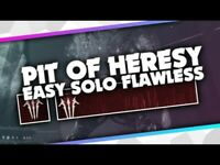Pit Of Heresy Dungeon Solo Flawless (Xbox/Cross Save)