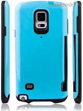 for samsung galaxy note 4 IV case cover hybrid rugged shookproof w/ card holder