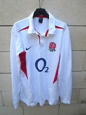Maillot rugby ANGLETERRE ENGLAND 2003 NIKE shirt n°40 coton vintage O2 L