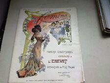 """ANCIENNE REVUE """" FEMINA """" N° 7  ANNEE 1901"""