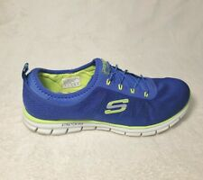 Womens SKECHERS Lite Air Cooled Memory Foam Blue Slip On Shoes Size 11