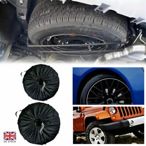 S SPARE TYRE Tire Cover WHEEL COVER TYRE BAG SPACE SAVER FOR ANY CAR VAN 99