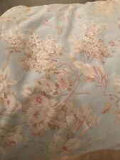 Rachel Ashwell Shabby Chic Fabric Chelsea - Robin's Egg with Pink Flowers