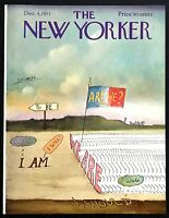 "1971 Marching Words ""We Are. Are We?"" Steinberg art Dec 4 New Yorker COVER ONLY"