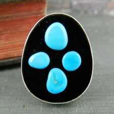 DTR Jay King Turquoise and Onyx Ring