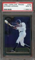 1999 topps chrome traded #t65 ALFONSO SORIANO new york yankees rookie card PSA 9