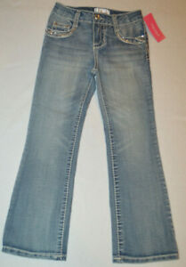 Girl's Xhilaration Medium Wash Denim Sparkle Pockets Jeans Size 6