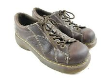 Dr. Martens Doc 12283 Flower Lace-Up Platform Wedge Oxfords UK 6 Women's U.S. 8