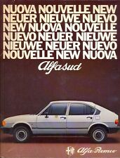 Alfa Romeo Alfasud 1980 Italian market original press kit brochure