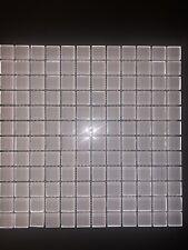 White Mosaic Tiles 1�X 1� Art Studio. 100 12�x12�x8mm Tiles Available.