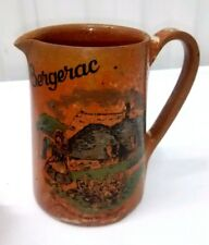 VTG French Restaurant Ware Pottery Pitcher Bergerac Perigord Guardian Of Geese