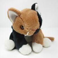 Ty Beanie Buddies Chip calico cat kitten kitty soft toy plush laying flat 1998