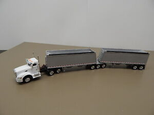 Promotex Truck with Double Grain Trailers  HO Scale  1/87 Scale
