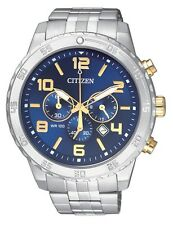 CITIZEN AN8134-52L two-tone Mens Watch Chronograph WR100m NEW RRP $349.00