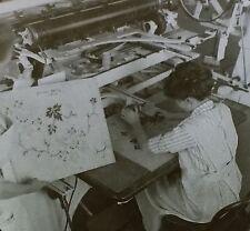Copying Design for Printing Cloth, Lawrence Mass, Magic Lantern Glass Slide