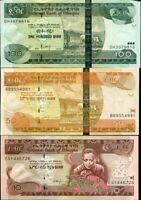 ETHIOPIA SET 3 PCS 10 50 100 BIRR 2008-2012 P 48 51 52 UNC