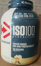 DYMATIZE NUTRITION ISO 100 1.6 lbs - 5 lbs Hydrolyzed 100% Whey Protein Isolate