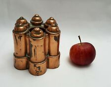 More details for antique copper benham & froud jelly / jello mould, no 532 round with six turrets