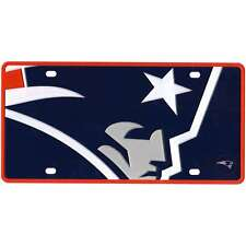 New england Patriots Acrylic Inlaid License Plate Mega Logo