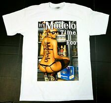 IT'S MODELO TIME FOO T-shirt Mexico Cerveza Mexican Beer Men's Tee White New
